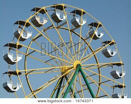 merry-go-round on blue sky