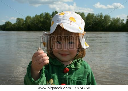 The Girl Ashore Of River