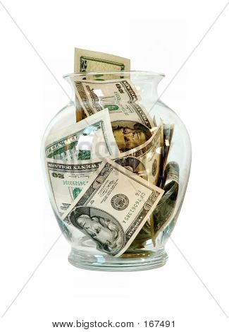 Money In A Glass Jar