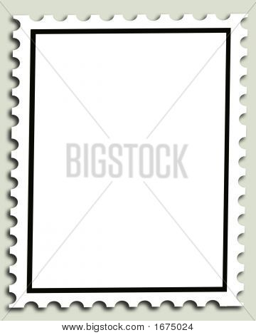 Blank Postage Stamp Background Or Frame