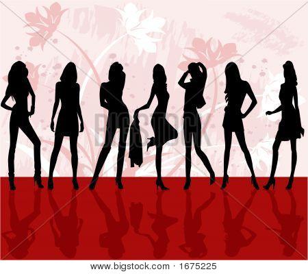 Fashion Girls - Vector Illustration