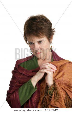 Mature Woman Worried