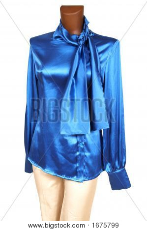 Blue Silk Blouse