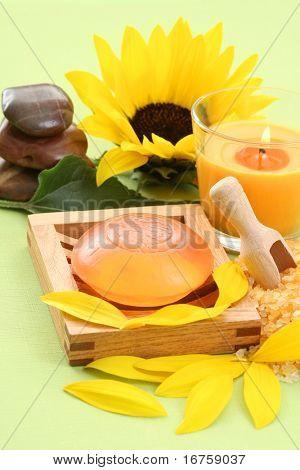bath salt and glycerine soap - beauty treatment