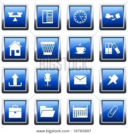 Negocios y conjunto de iconos de oficina