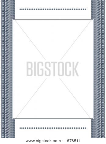Elegant Blue Document Frame