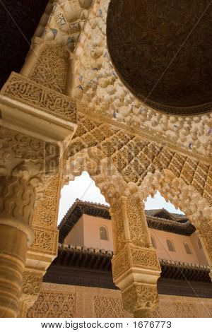 Column Roof Detail In Alhambra