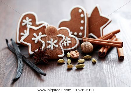 Christmas cookies with spices - Christmas time