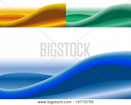 A suggestive, abstract waveform background. 3 images included: Blue; Green; Yellow.