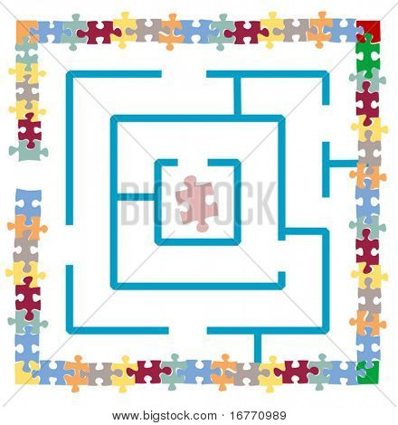 Really, really puzzled? Illustrate it with this maze within a jigsaw puzzle.