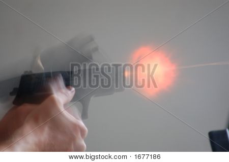 Gun Shot With Flame