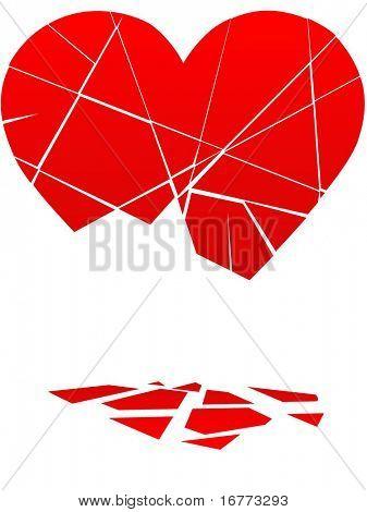 A Broken Heart Falls to Pieces in a break up or divorce.