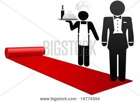 Hotel concierge and restaurant chef roll out the red carpet to welcome guests