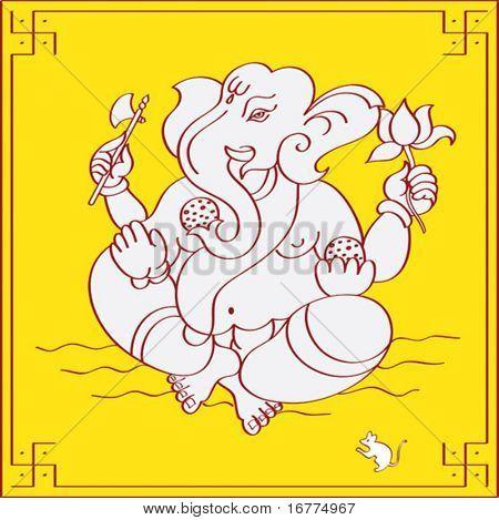 Ganesh, los dios hindú comer dulces.