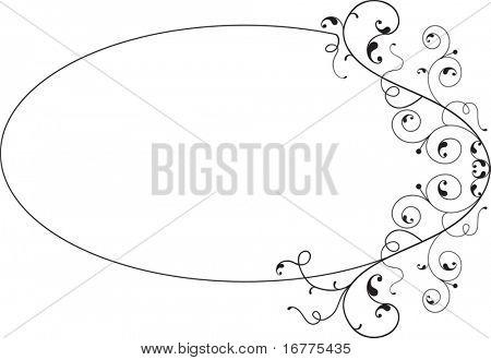 Design Element frame (elliptical)