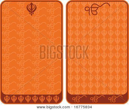 Khanda, Ik Onkar, Punjabi symbol Frame design