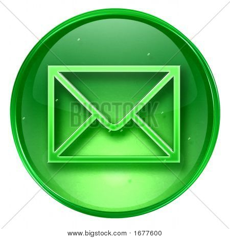 Postal Envelope Icon. With Clipping Path