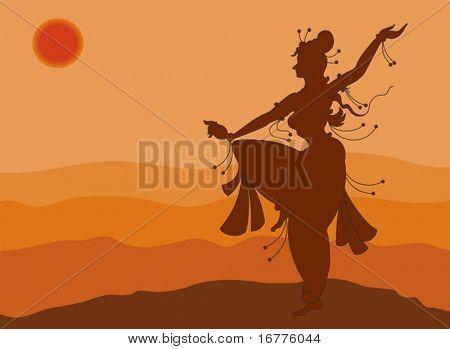 Surya (sun) namaskar, Women Dancing, Shadow Art,