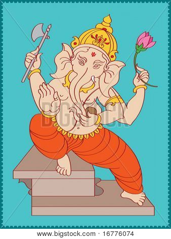 Ganesha giving Blessing's