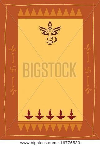 Durga Indian Goddess festival background