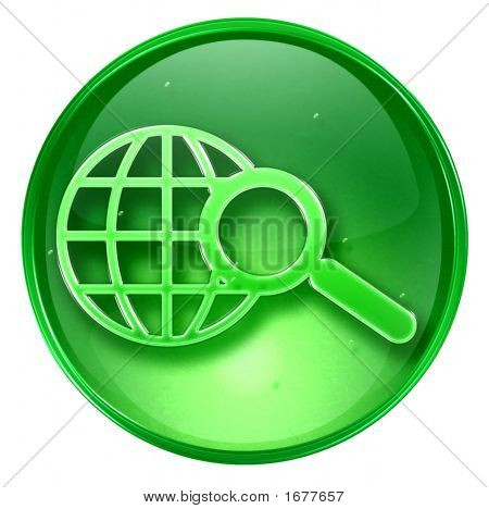 Search And Magnifier Icon. (With Clipping Path)