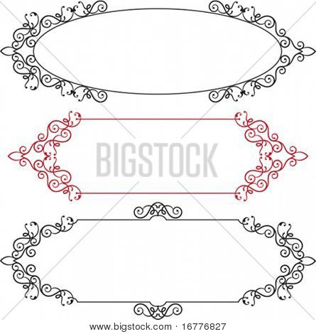 Calligraphic Border, Frame Designs in various shapes