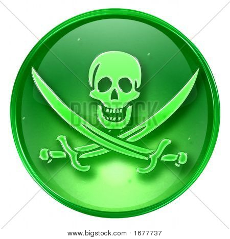 Pirate Icon. ( With Clipping Path )