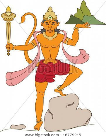 Hanuman the hindu ape (Monkey) god