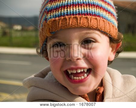 Cute Little Boy Smiling