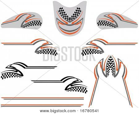 Vehicle Graphics, Stripe : Vinyl Ready (Tank, Mask, bonnet, body strip)
