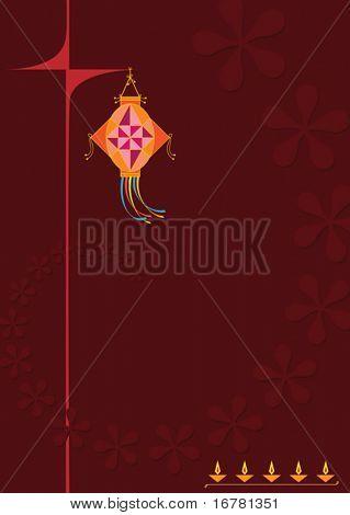 Saludo de Diwali (kandeel)