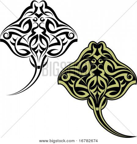 Tattoo Maori Stingray fish