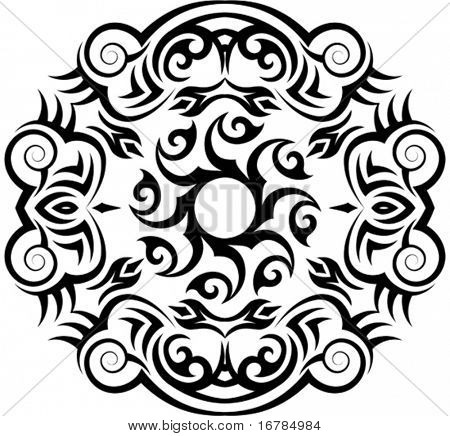 Vector Tribal tattoo