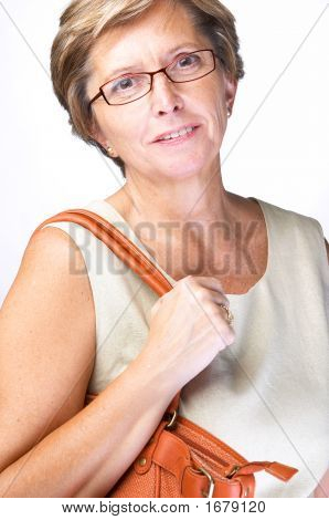 Mid Adult Woman With Bag
