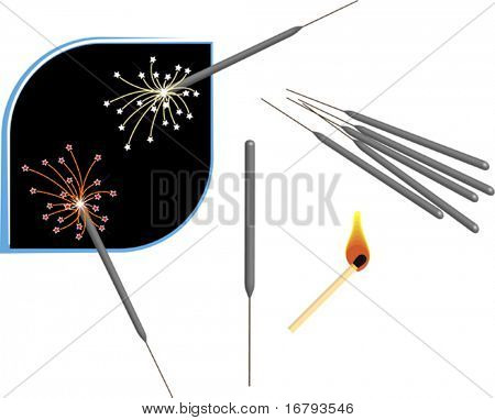 Fireworks Sparkle Stick, Matchbox stick