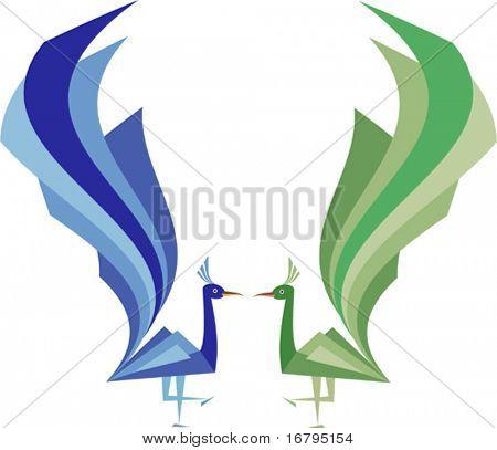 Peacock artistic