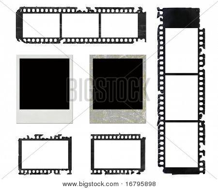 sofortige Bilderrahmen und Grunge-negativ-Film-set