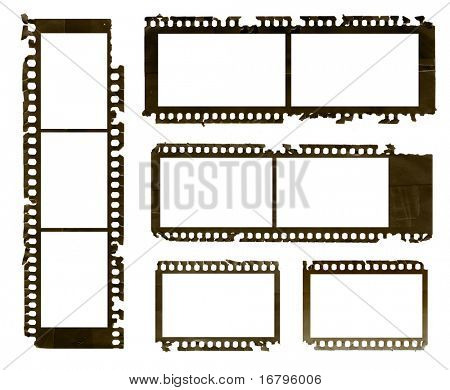 Grunge negative film set