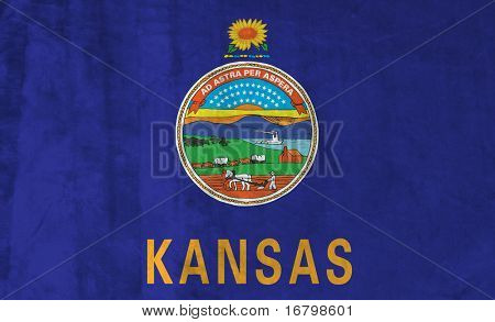 Grunge Flag of Kansas