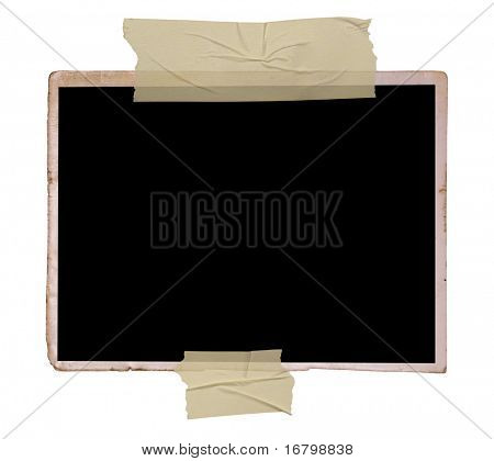 Vintage photo frame, saved with clipping path
