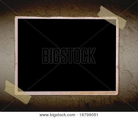 Foto de época en pared