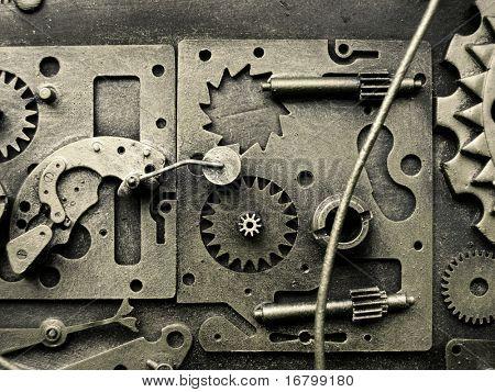 Zahnräder aus alten Mechanismus