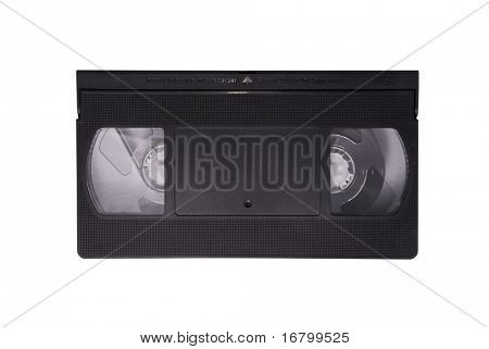 VHS tape, saved with clipping path