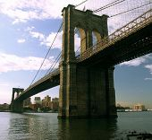 stock photo of brooklyn bridge  - brooklyn bridge - JPG
