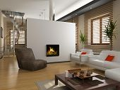 pic of settee  - modern private interior  - JPG