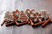 stock photo of christmas cookie  - Christmas cookies with spices  - JPG