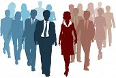 foto of human resource management  - Business teams as competitors or joining resources in company merger as a team - JPG