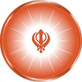 stock photo of khanda  - The Khanda is one of most important symbols of Sikhism alongside the Ik Onkar  - JPG
