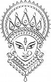 picture of durga  - Durga Calligraphic ornamental - JPG
