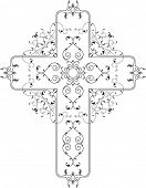 picture of christian cross  - Vector Christian Cross Design - JPG